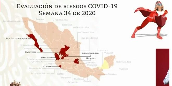 Continúa Hidalgo semáforo rojo Salud