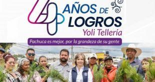 Yolanda Tellería presume luminarias recolección residuos