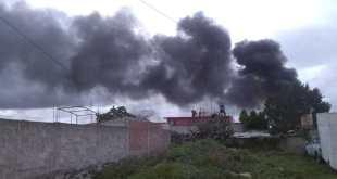 Se registra explosión en un negocio de Santiago Tulantepec