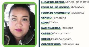 Se busca a Miriam Flores Arcos, extraviada en Mineral de la Reforma