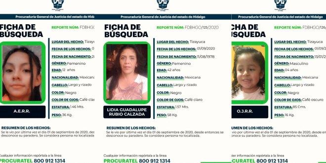 busca mujer dos hijas desaparecieron Tizayuca