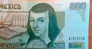 Ofrecen 2 mil pesos billete 200 Sor Juana