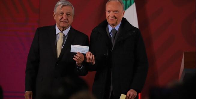 Rebotan cheque pagar rifa avión presidencial