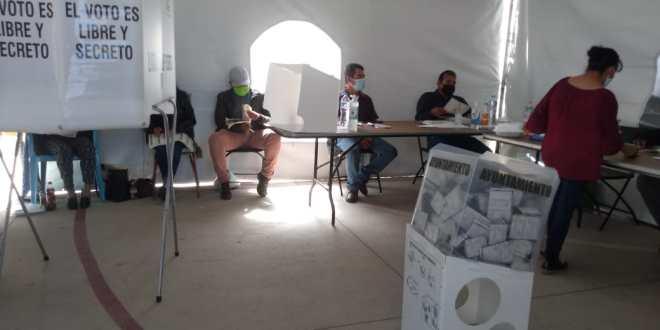 Poca afluencia de votantes en casilla especial de Tulancingo