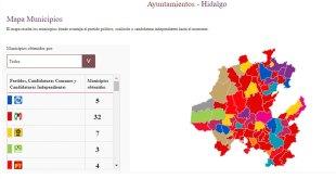 Hidalgo PRI lleva 32 alcaldíasPRD 7 Morena 6