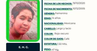 busca joven 14 años extraviada Ixmiquilpan