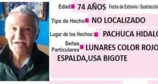 Se busca a Ramón Mejía, de 74 años; se extravió en Pachuca