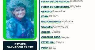 Buscan Esther Salvador extraviada Jacala de Ledezma