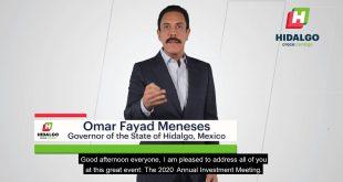 Omar Fayad recibe reconocimiento a la inversión por parte de Emiratos Árabes Unidos