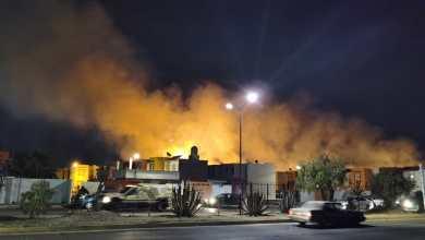 Reportan incendio lote baldío Mineral de la Reforma