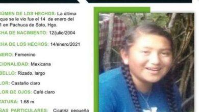 Buscan a Oralia Mendoza, de 16 años; se extravió en Pachuca