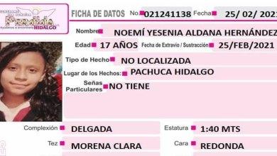 Se busca Noemí Yesenia Aldana Hernández Pachuca