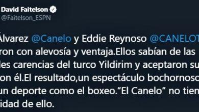 Se enganchan Canelo Álvarez y David Faitelson en redes sociales