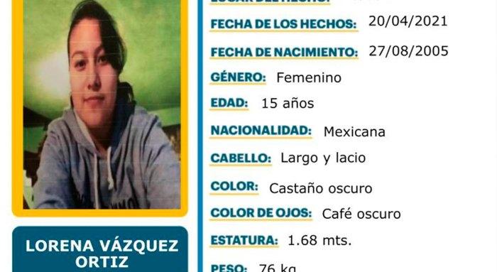 Se busca Lorena Vázquez Ortiz Acatlán