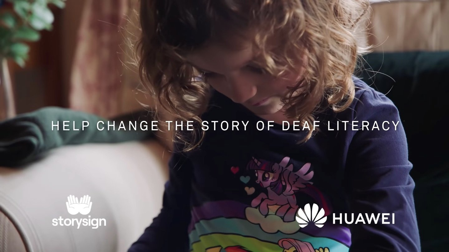 photo of girl with writing: Help change the story of deaf literacy