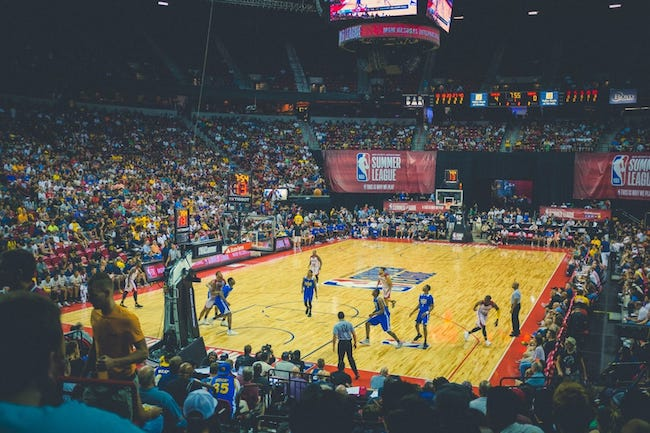 photo of a basketball game