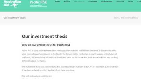 Demonstrating New Possibilities: The Pacific RISE Investment Thesis