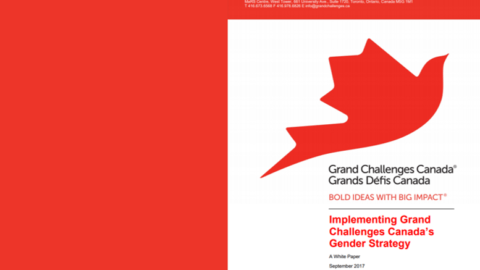 Implementing A Gender Strategy: Grand Challenges Canada's Story