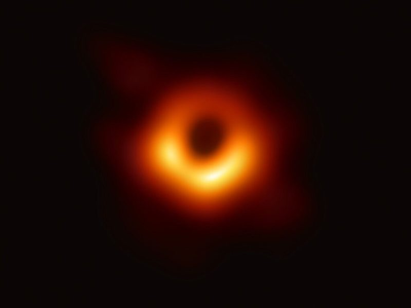 This is what the first ever photo of a black hole looks like.