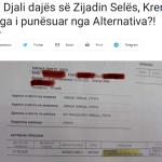 Tetova Lajm: TS: Djali dajës së Zijadin Selës, Krenar Lloga i punësuar nga Alternativa?!