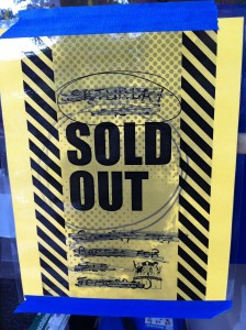 Sold Out sign from Geek Girl Con