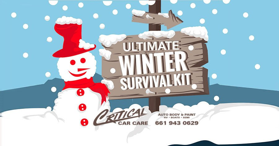 Winter Car Care & Infographic survival kit