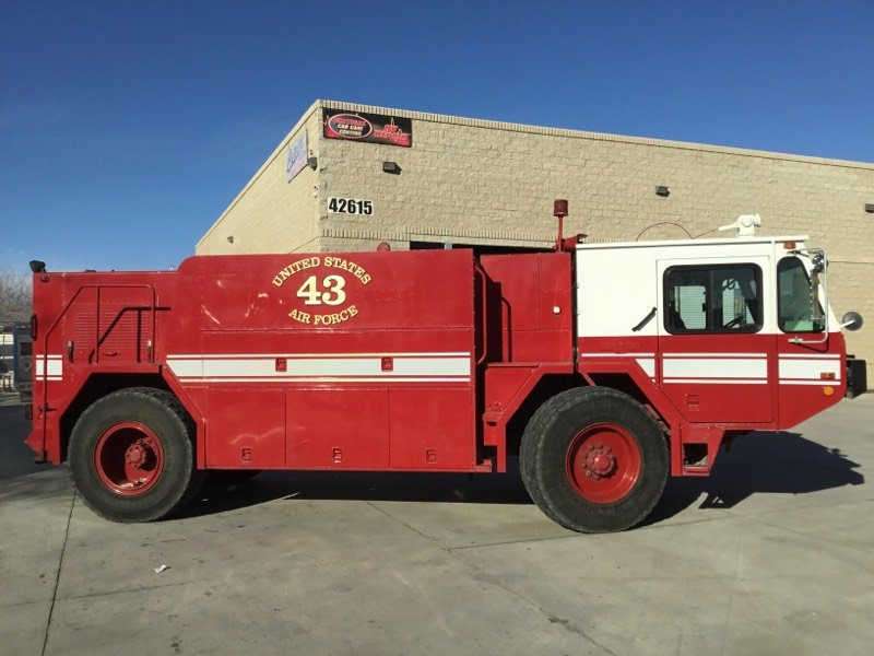 USAF FIRE TRUCK before and after damage repair