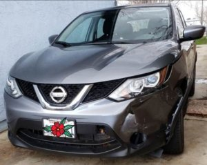 Nissan Rogue front left fender repaired