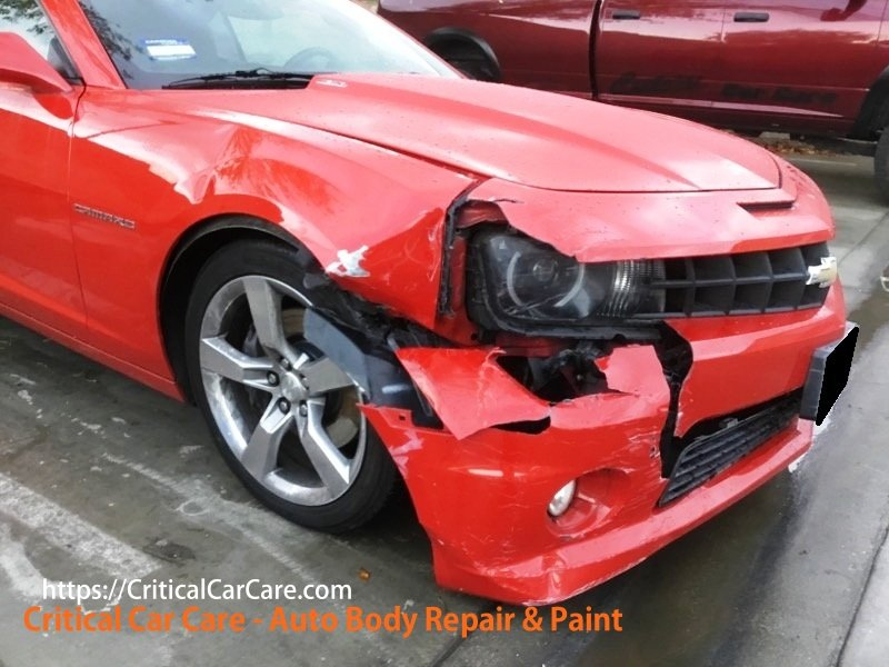 Wrecked and Repaired 2013 Chevy Camaro