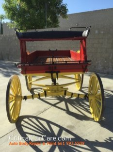 1800's single horse wagon last owned by the city of San Francisco