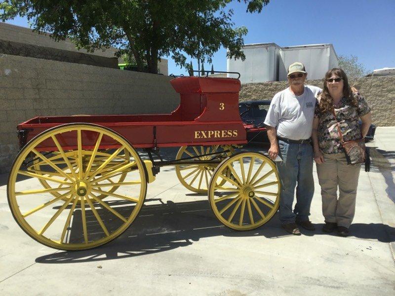 1800's single horse wagon