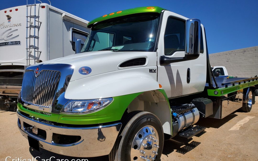 Custom Paint 2021 Tow Truck before & after