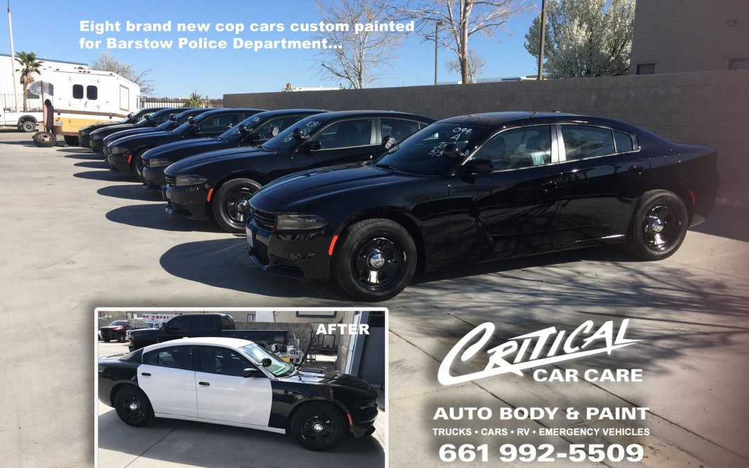 Cop Cars Custom Paint For Barstow Police Dept.