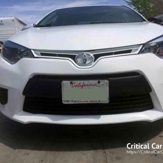 2016 Toyota Corolla before and after auto body repair paint