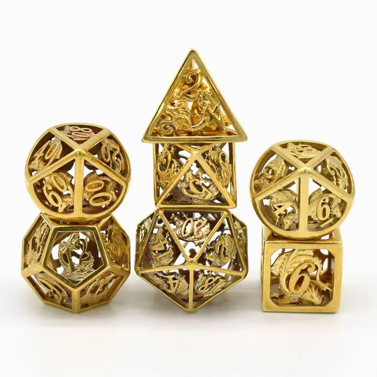 Ancient Gold Dragon Dice For Dungeons Dragons