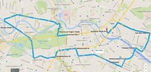 Geplanter Streckenverlauf des Ride of Silence Berlin am 20. 05. 2015, via Initiative clevere Städte