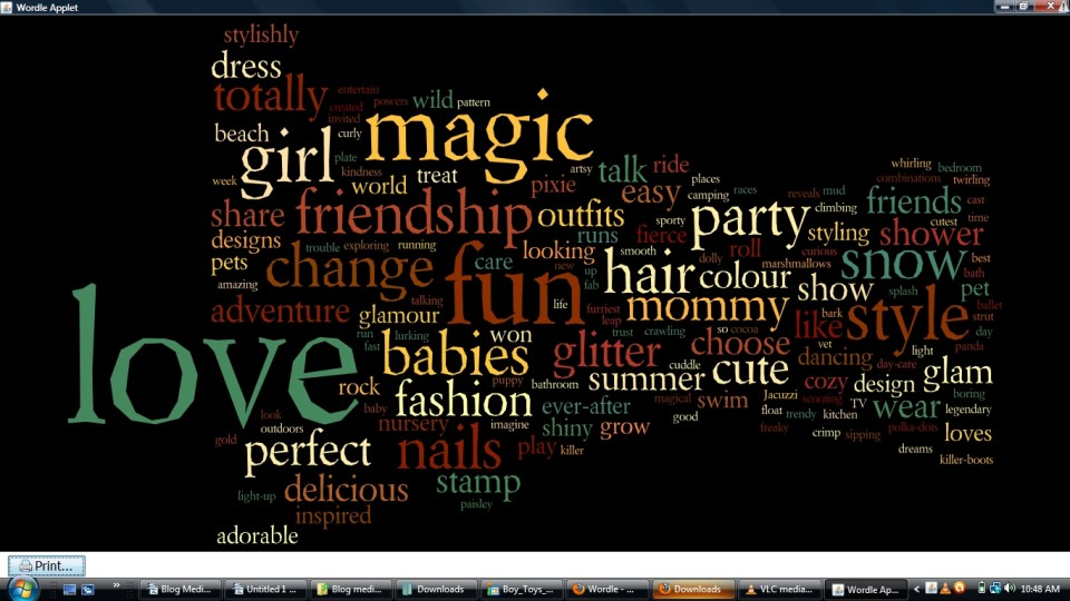 girl toys wordle - Critical Media Project
