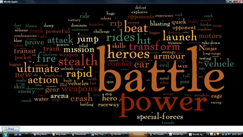 boy toys wordle - Critical Media Project