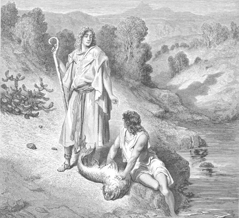 Raphael and Tobias by Gustav Dore