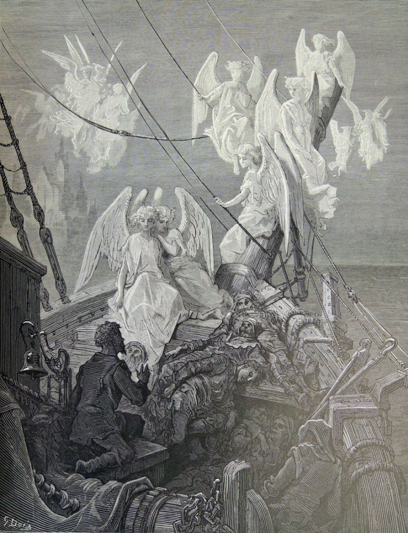 The Seraphs in The Rime of the Ancient Mariner, by Gustav Dore