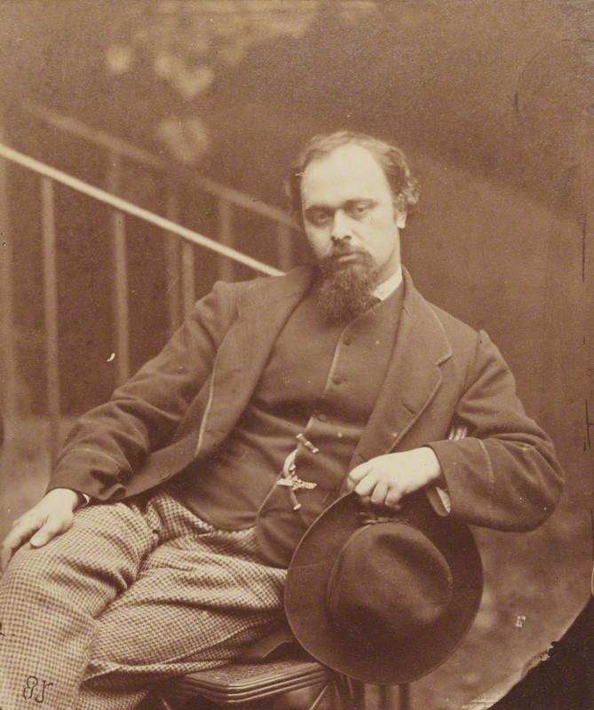 Dante Gabriel Rossetti, by Charles Lutwidge Dodgson