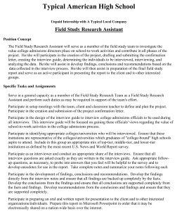 Field Study Job Description-1