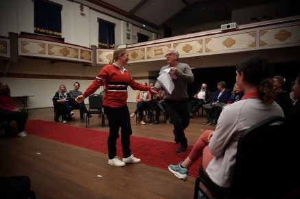 A public performance of The Oyster at the AtheniumTheatre in Junee NSW