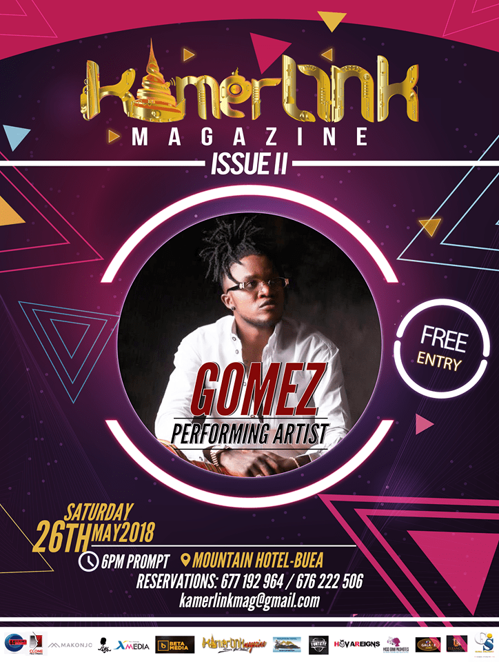 Artist Gomez to Perform at the Second Edition of KamerLink Magazine Launch