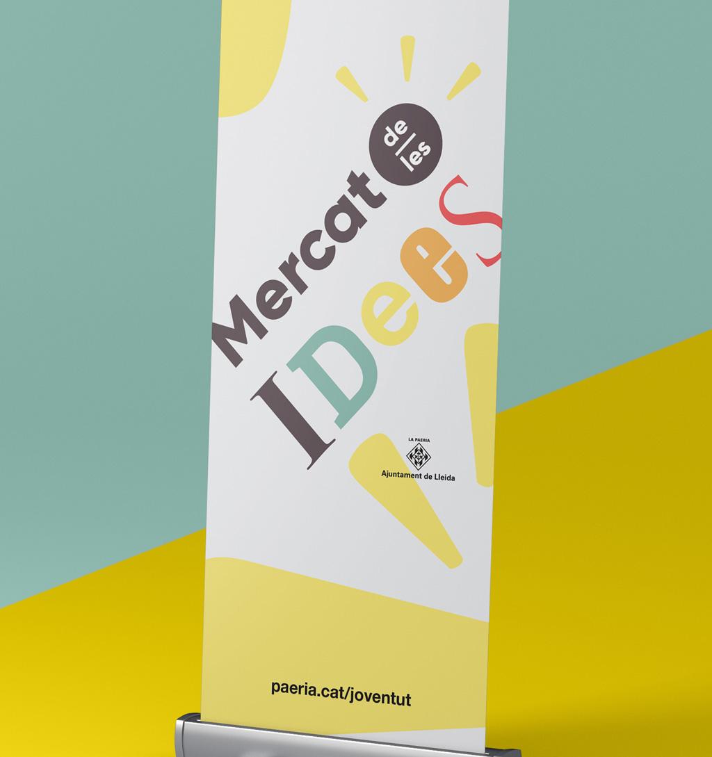 Logotipo del Mercat de les Idees Lleida 2017 aplicado. Logotip del Mercat de les Idees Lleida 2017 aplicat.