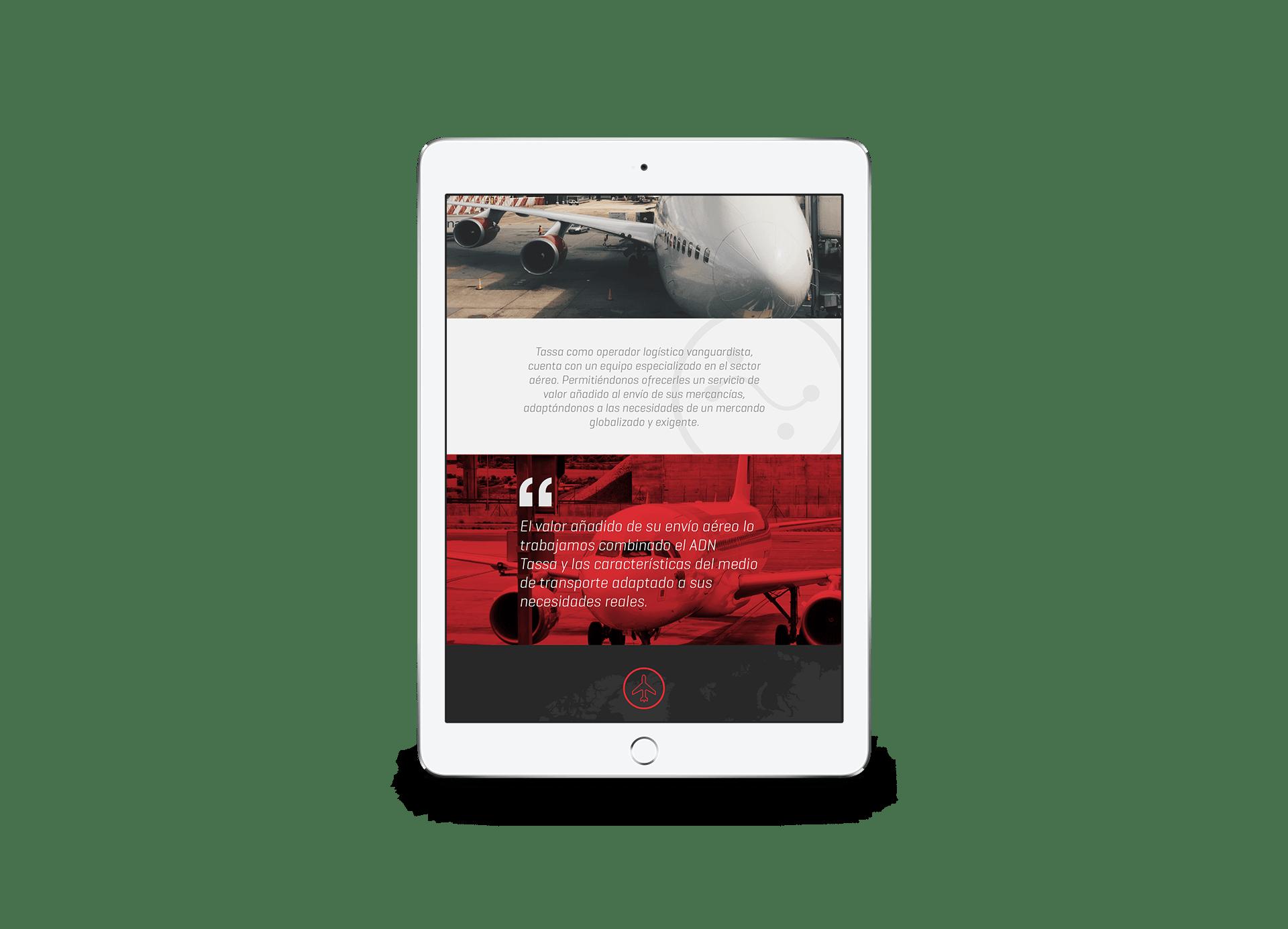 Diseño página web para formato tablet. Disseny pàgina web per a format tablet.