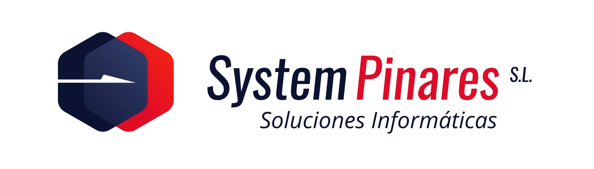 Disseny del logotip per a la empresa System Pinares. Elegant, funcional, modern.