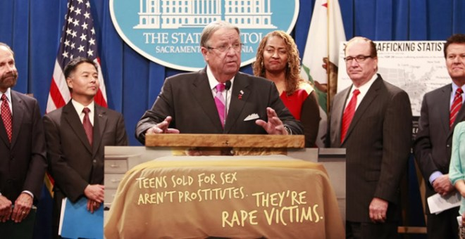 Bipartison Support for Ending the Sexual Exploitation of Children in California.