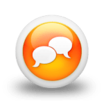 orange chat icon