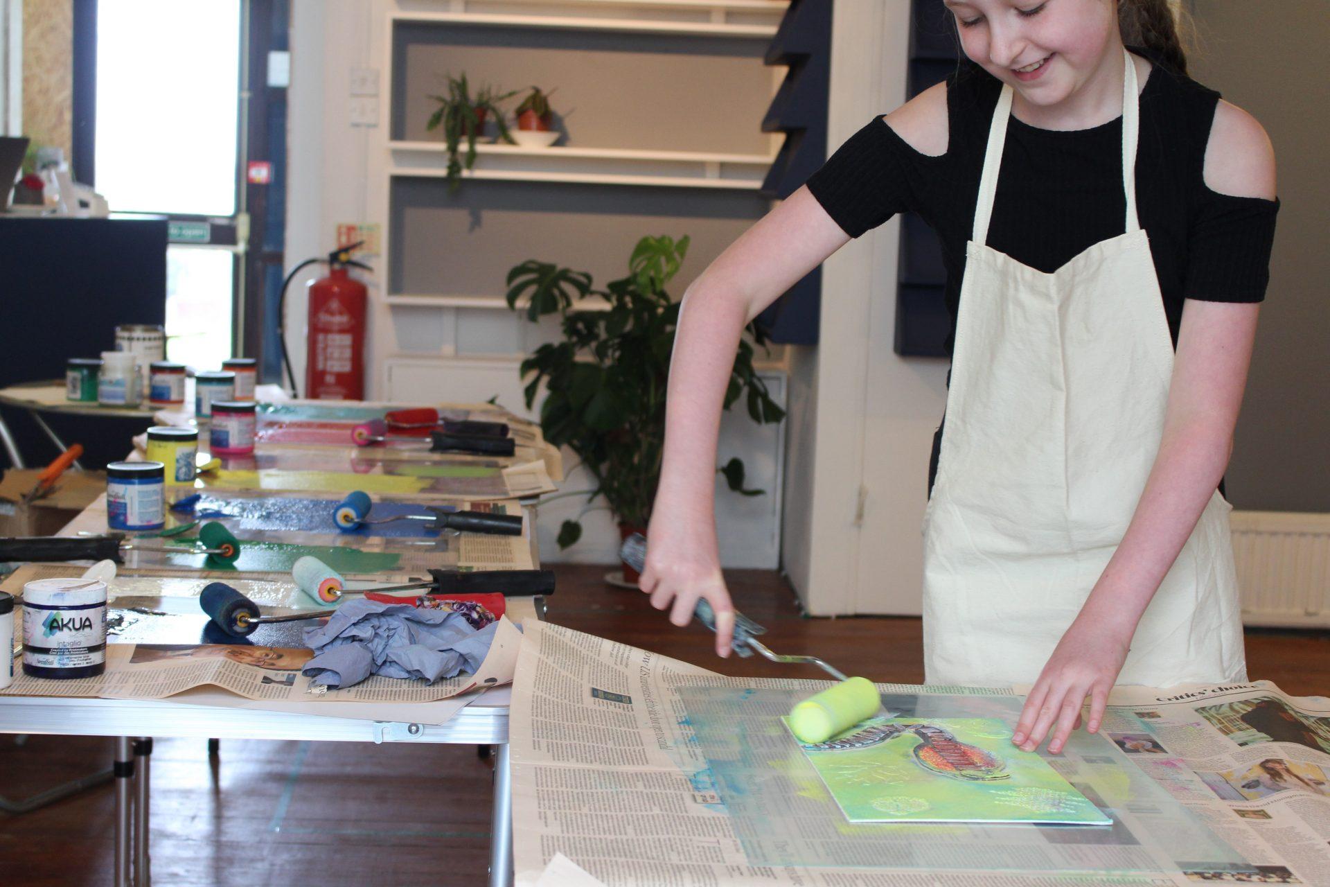 Collagraph printing masterclass with Nina Morgan